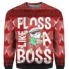 Santa Floss Like A Boss 3D Ugly Sweater Hoodie