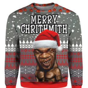 Mike Tyson Merry Chrithmith 3D Ugly Sweater Hoodie