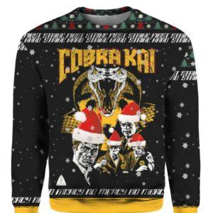 Cobra Kai Strike First Strike Fast No Mercy 3D Ugly Christmas Sweater Hoodie
