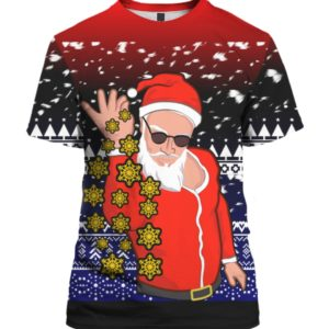 Sexy Santa Claus Snowflakes 3D Ugly Sweater Hoodie