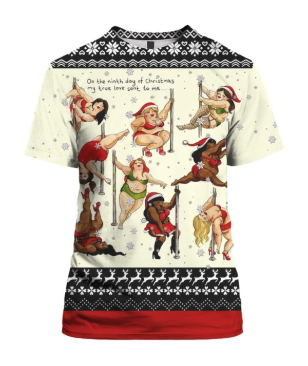 Nine Ladies Dancing Sexy 3D Ugly Christmas Sweater Hoodie