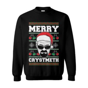 Merry Crystmeth Walter White Ugly Christmas Sweater