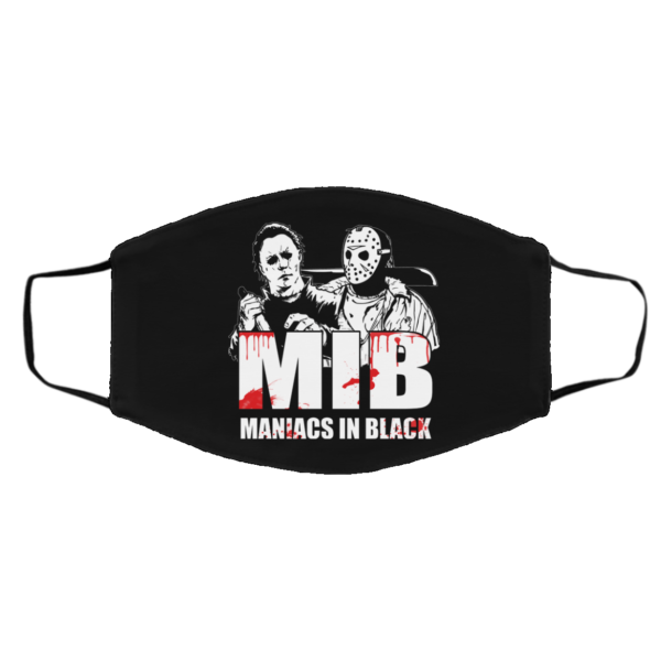Maniacs In Black Washable Reusable Custom Face Mask