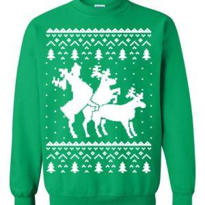 Reindeer Sex Naughty Ugly Christmas Sweater