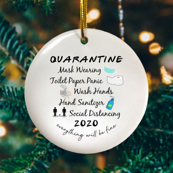 2020 Quarantine Ornament - Pandemic Decorative Christmas Ornament - Funny Holiday Gift