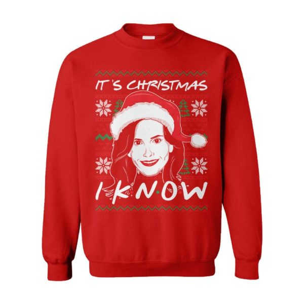 It'S Christmas I Know! Best Friends Monica Geller Ugly Christmas Sweater