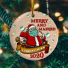 Merry And Masked Santa Claus Christmas Quarantined 2020 Ornament