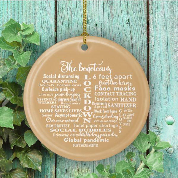 2020 Quarantine Ornament- Pandemic Christmas Ornaments Holiday Decorative Christmas Ornament - Funny Holiday Gift