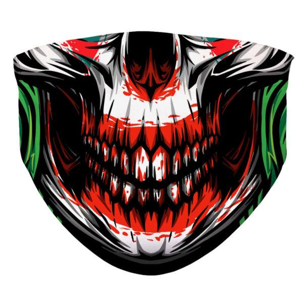 Evil Horror Clown Skull Skeleton Joker Face Mask