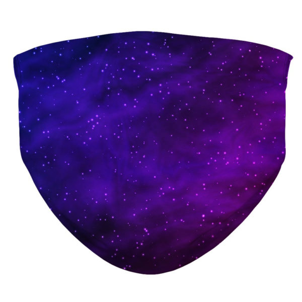 Galaxy Pattern Futuristic Space Starry Face Mask