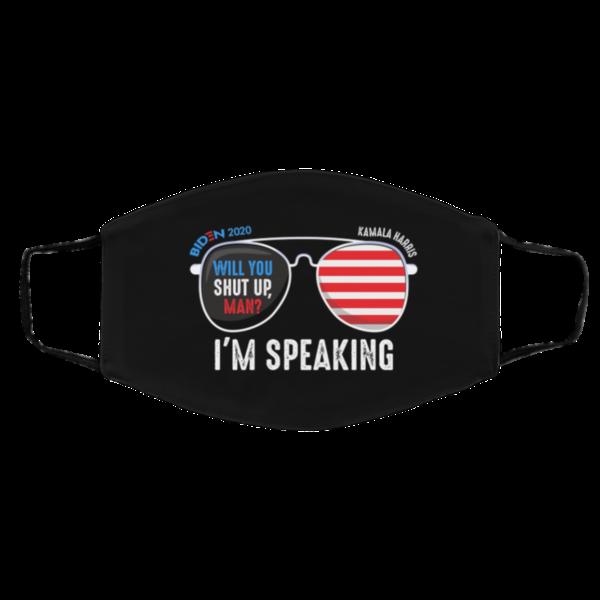Biden Will You Shut Up Man Kamala Im Speaking Debate Meme Face Mask