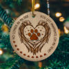 No Longer By My Side You Left Pawprints In My Heart Decorative Christmas Ornament - Funny Holiday Gift