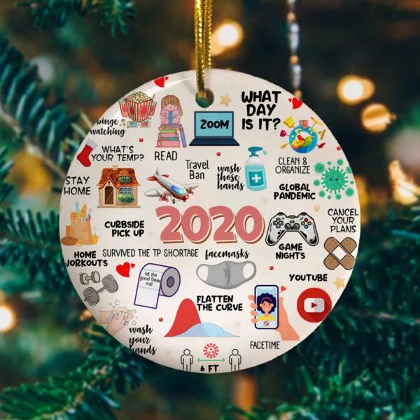 2020 Pandemic Quarantine Decorative Christmas Ornament - Funny Holiday Gift