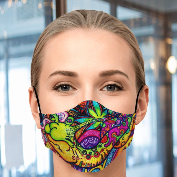 Graffiti Collage Face Mask