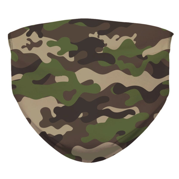 Camouflage Pattern Camo Green Military Face Mask
