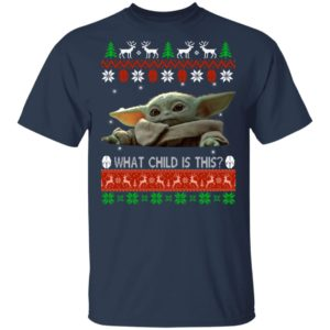 Baby Yoda What Child Is This Ugly Christmas Sweater