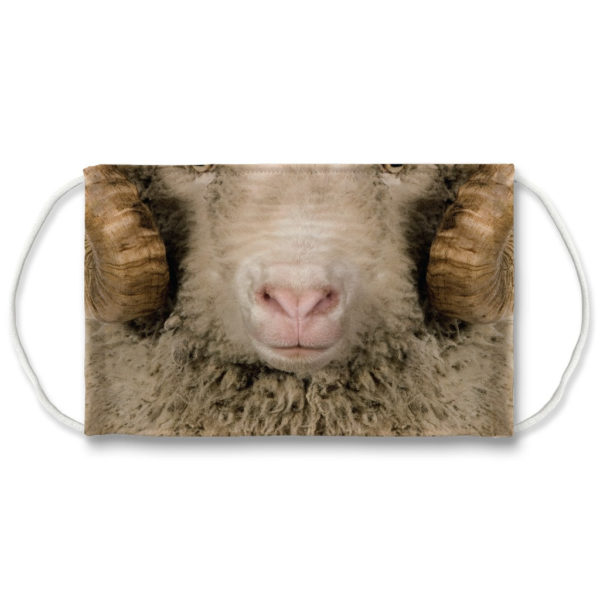 Aries Face Ram Farm Animal Farmer Face Mask
