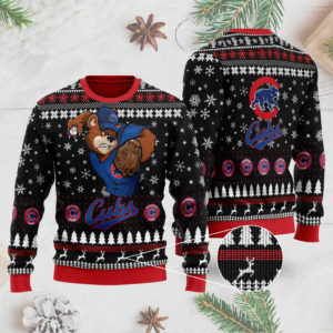 Chicago Cubs 3D Ugly Christmas Sweater