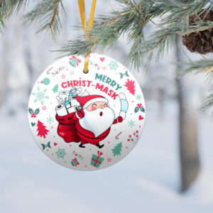 2020 Quarantined Christmas Co-Vi19 Decorative Christmas Ornament - Funny Christmas Holiday Gift