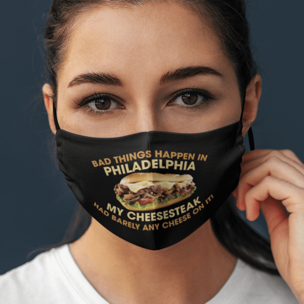 Debate 2020 Trumps Quote Bad Things Happen in Philadelphia Face Mask