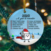 2020 A Year To Remember Decorative Christmas Ornament - Funny Holiday Gift