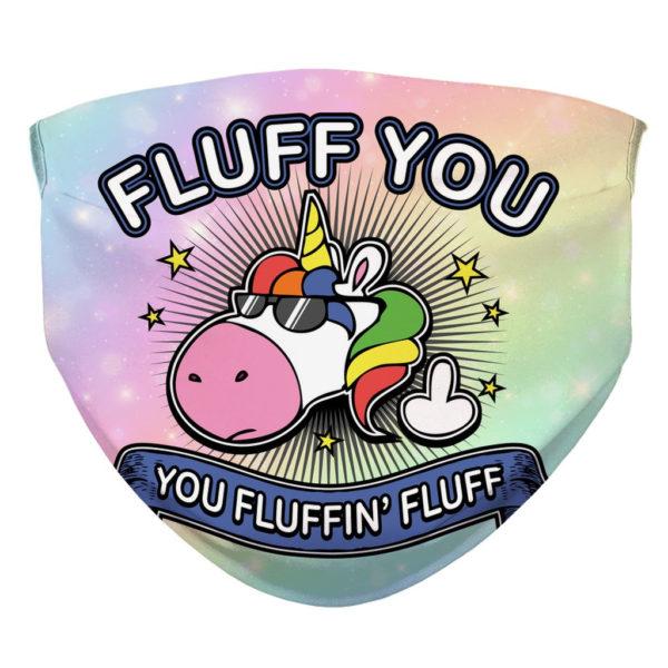 Fluff You Unicorn Face Mask