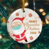 Merry X-Mask 2020 Funny Santa Claus Wearing Mask Christmas Ornament Keepsake Decorative Ornament - Funny Holiday Gift
