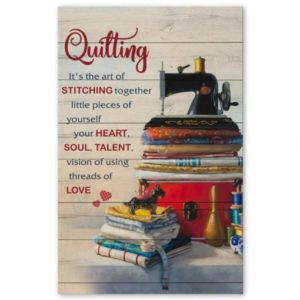 Quilting Its The Art Of Stitching Together Vintage Poster, Canvas