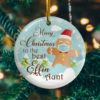Merry Christmas To The Best Effin Aunt Gingerbread Decorative Christmas Ornament - Funny Holiday Gift