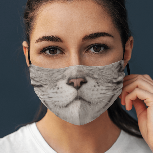 American Shorthair Cat Cosplay Face Mask