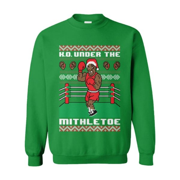 K.O. Under The Mithletoe Iron Mike Tyson Lisp Boxing Fighter Heavyweight Chrithmith Punch Out Ugly Christmas Sweater