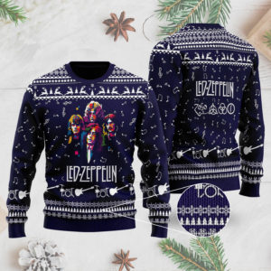 Led Zeppelin Band 3D Printed Ugly Christmas Sweater