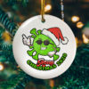 Funny Merry Christmas 2020 Covi-19 Pandemic Christmas Flat Holiday Circle Ornament