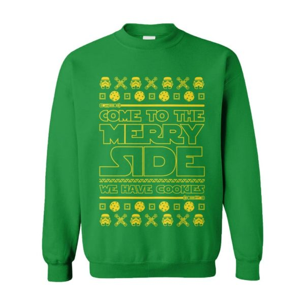 Come To The Merry Side We Have Cookies Ugly Christmas Sweater