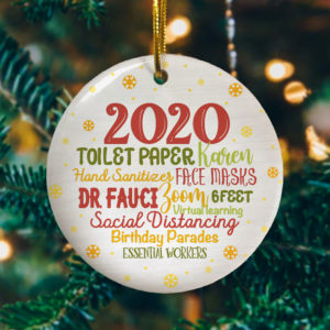 2020 Christmas Quarantine Funny Pandemic Christmas Lockdown Decorative Christmas Ornament - Funny Holiday Gift
