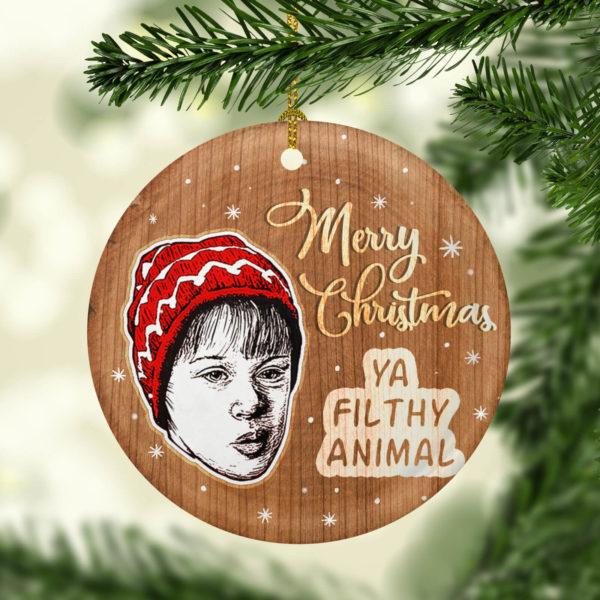 Home Alone Merry Christmas Ya Filthy Animal Decorative Christmas Ornament - Funny Holiday Gift