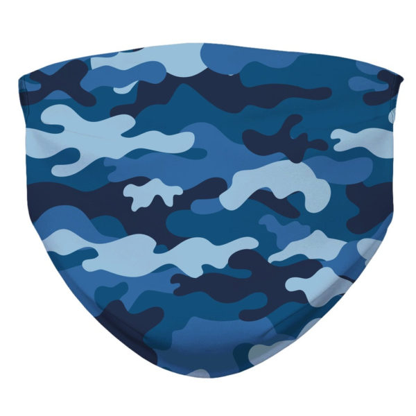 Camouflage Pattern Camo Blue Military Face Mask