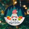 2020 The Year We Gnome Circle Ornament Keepsake - Funny 2020 Chritstmas Ornament