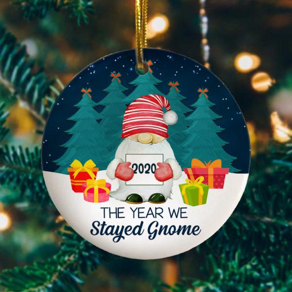 2020 The Year We Gnome Circle Ornament Keepsake - Funny 2020 Chritstmas Ornament