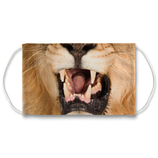 Angry Lion Face Big Cat Wild Animal Face Mask