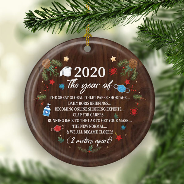 2020 The Year Of The Great Global Toilet Paper ShortageDecorative Christmas Ornament - Funny Holiday Gift