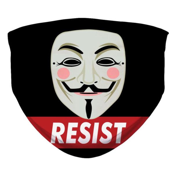 Guy Fawkes Resist Resistance Internet Face Mask