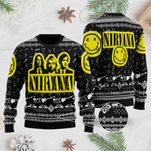 Nirvana Band 3D Printed Ugly Christmas Sweater