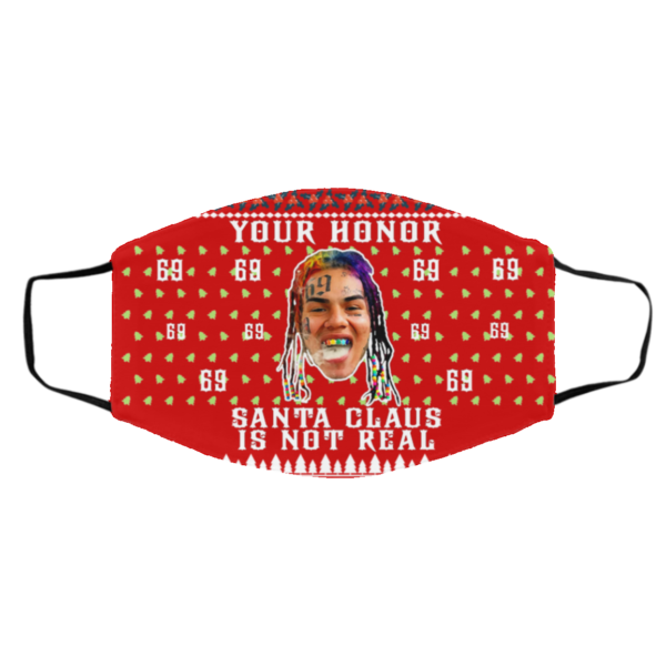 Your Honor Santa Claus Is Not Real Snitch Nine Tekashi 69 Ugly Christmas Face Mask
