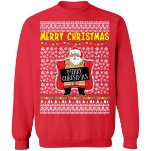 Merry Christmas Santa Claus Exposing Himself Ugly Christmas Sweater