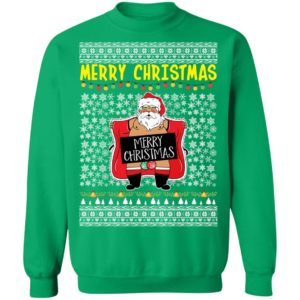 Merry Christmas Santa Claus Exposing Himself Ugly Christmas Sweater