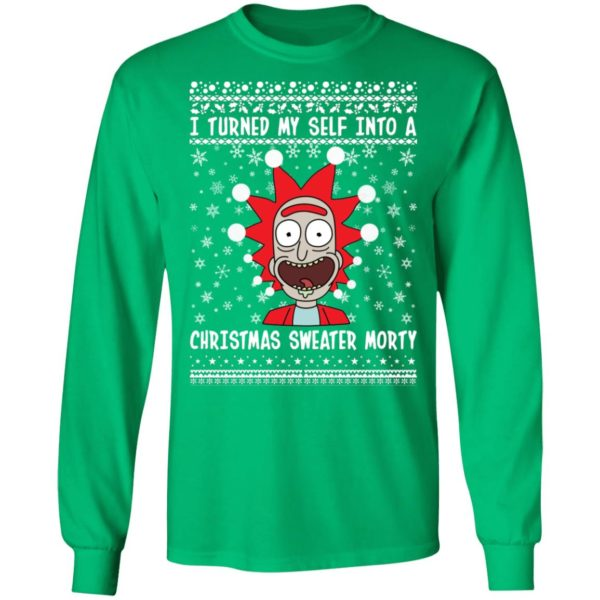 Rick and Morty I Turned My Self Into A Christmas Sweater Morty Ugly Christmas Sweater