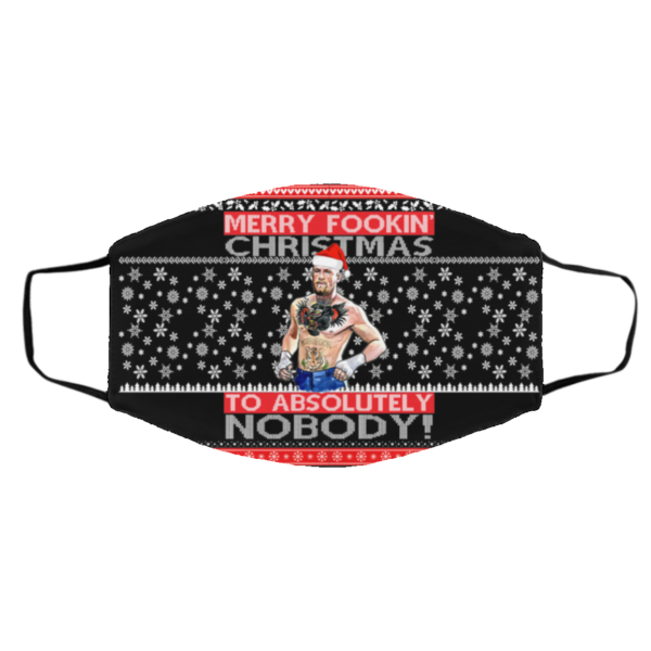 Conor McGregor Merry Fookin Christmas To Absolutely Nobody Ugly Christmas Face Mask