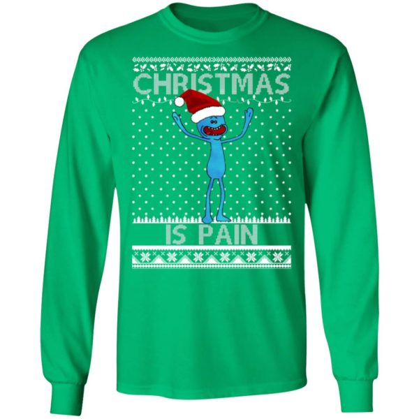 Mr Meeseeks Christmas Is Pain Ugly Christmas Sweater
