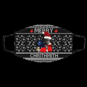 Mike Tyson Merry Chrithmith Ugly Christmas Face Mask